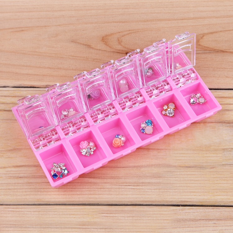 Nail Art Decorations Storage Case Box Nail Glitter Rhinestone Crystal Beads Accessories 12checks empty Container organizer illusion money box dream box money from empty box wonder box magic tricks props comedy mentalism gimmick