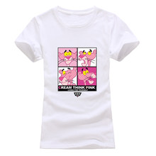 EXPERTEE 2018 T shirt Women Fashion summer pink print short sleeve t-shirts comfortable brand cotton women tee Cartoon tops(China)