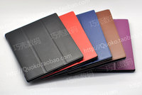 2015 New Ultra Thin Super Slim Cover Case 100 Handmade Leather PC Stand Magnetic Smart Cover