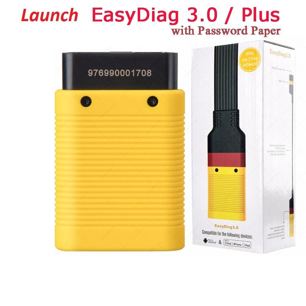 השקה עם Bluetooth EasyDiag 3.0/בתוספת OBD2 קוד קורא אנדרואיד/iOS סורק OBD2 מורחב כבל אבחון כלי X431 קל Diag