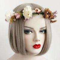 Noel Saç Hoop Bohemian Çelenk Gelin Hairband Sanat Aksesuarları FD-34