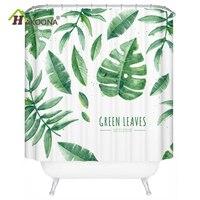 HAKOONA Summer Style Shower Curtain Set Waterproof Bathroom Mat High Opaque Curtain Dressing Room Curtain
