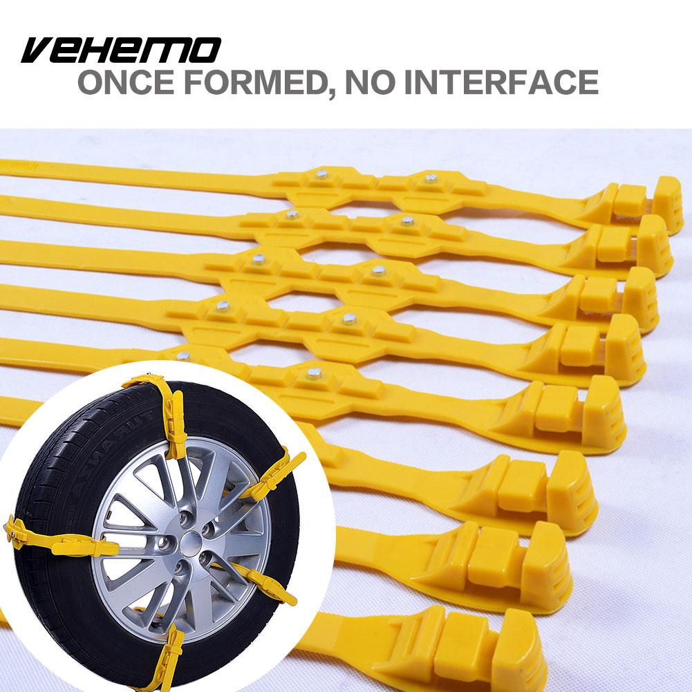 Vehemo 1pc TPU Snow Tire Belt Snow Chain Climbing Mud Ground Anti-Skid Chains Truck SUV Emergency Universal Roadway Safety