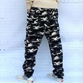 free shipping 2017 new arrive blue naval military Camouflage casual pants personality plus size  men loose harem pants