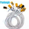 Panlongic 10 piezas TL-Q5MC1 DC 12-24 V 50mA NPN NO Sensor inductivo del interruptor de proximidad normalmente abierto 5mm detección 6-36 v 3 cables