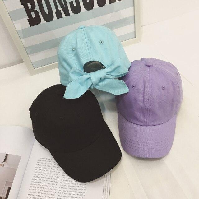 harajuku hats for men 2017 korean new spring summer hat kawaii bowknot ulzzang baseball hip hop cap visor woman snapback caps