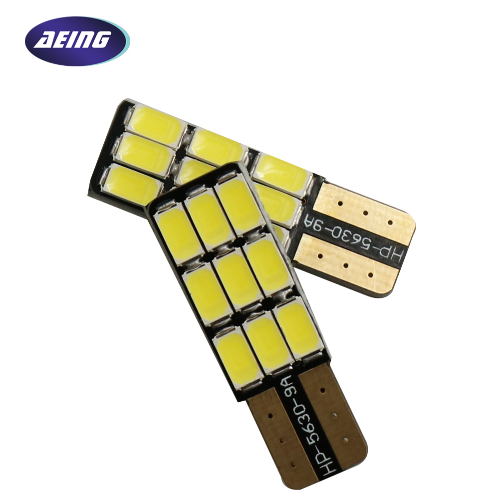 AEING 1*Car T10 W5W 186 194 LED Bulb White NO OBC Canbus Error Free 9SMD Side Door Light/License Plate Light/Reading Light Lamp