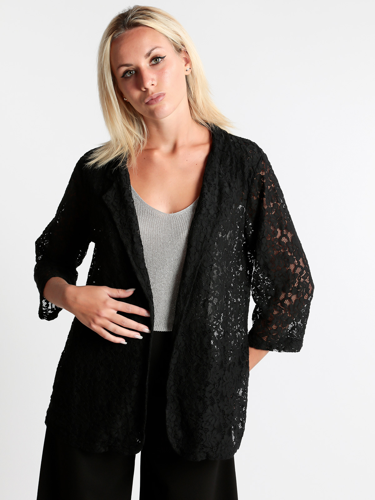 Solada Blazer Lace With Sleeves 3/4