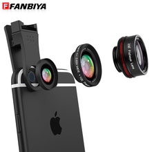 FANBIYA Smartphone Lens Cell Telephone Digital camera Lenses zero.65x Huge Angles 10x Macro Lens 230 Fisheye Fish Eye Lens for IOS Android