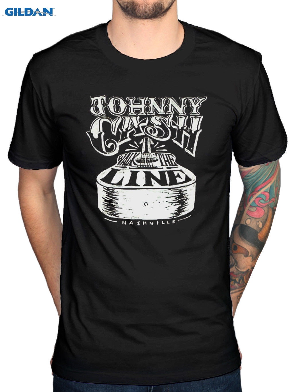 Official Johnny Cash Walk The Line T-Shirt A Thing Called Love Ragged Old Flag Top Tee For Sale Natural Cotton Tee Shirts