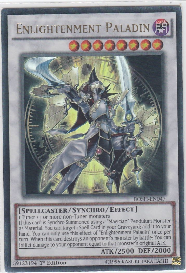 BOSH-EN047 Enlightenment Paladin Ultra Rare 1st Edition Mint YuGiOh Card