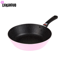 CAKEHOUD 24cm Smokeless Wok Frying Pan Non Stick Frying Steak Omelette Pan For Gas And Induction Cooker Kitchen Accessories