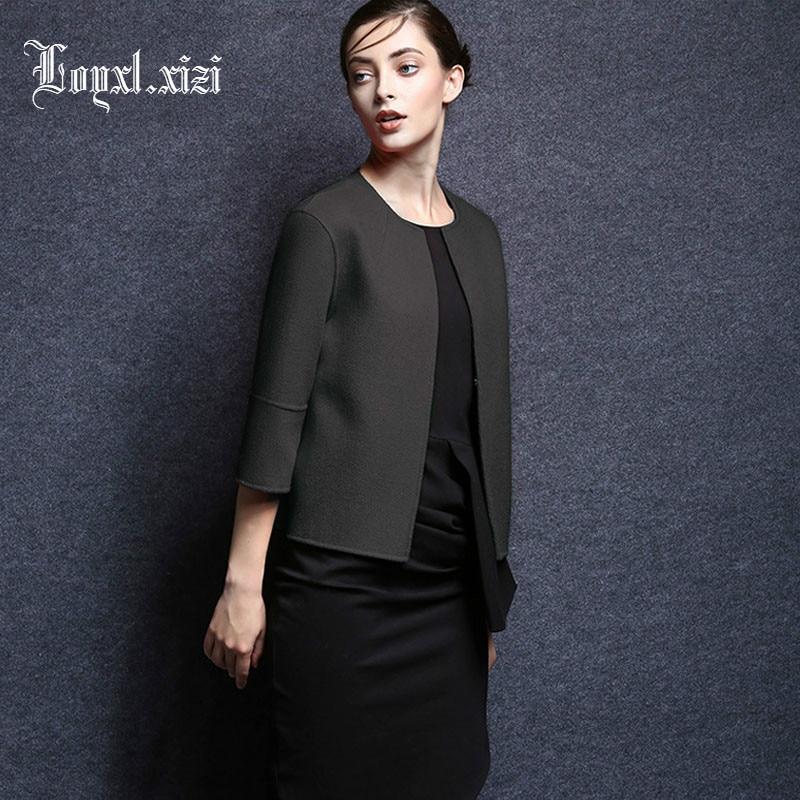 Court En Femelle Xl0014 Laine Femmes D'o 100 Manteau Femme Populaire Mode cou D'hiver De Darkgrey Cachemire zTznRq7Xx