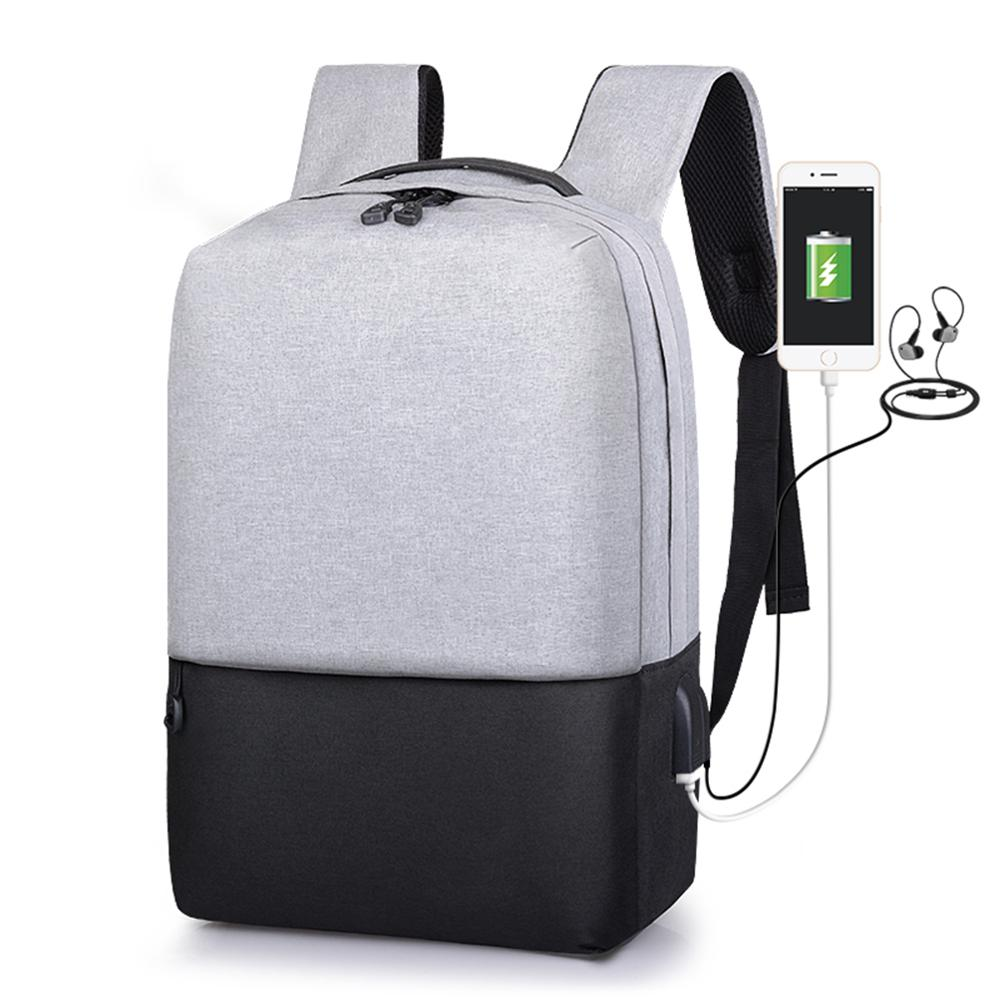 Multifunctionl Anti-thief USB Recharging Laptop Backpack Hard Shell No <font><b>Key</b></font> <font><b>TSA</b></font> Customs Lock Design Backpack Men Travel Backpacks image