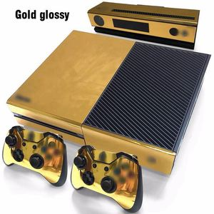 Image 4 - Gold Glossy Skin Sticker For Xbox ONE Console Controller + Kinect Decal Vinyl Compatible with Xbox One console