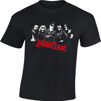 High Quality Men S Rock Band T Shirts Judas Priest Rock Metal Band Shirts 100 Heavy