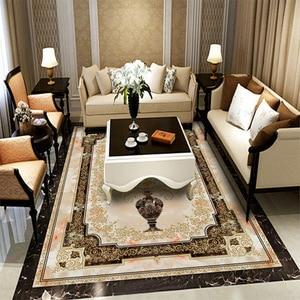 Image 3 - Custom Self adhesive Floor Mural Classic European Style Vase Marble Floor Tile Wall Paper Sticker Living Room Papel De Parede 3D
