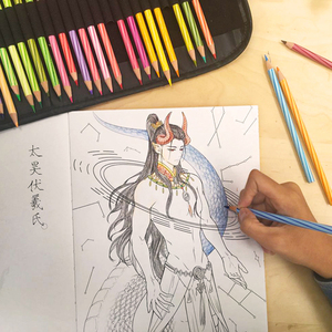 Image 4 - 2019Creative Chinese Coloring Book Line Sketch Drawing Textbook Vintage Ancient Beauty Painting Adult Anti Stress Coloring Books