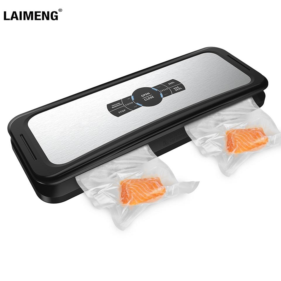 LAIMENG Automatic Vacuum Sealer Food Sealing Machine Vacuum Packaging Food Grade Plastic Vacuum Bags Kitchen Appliance