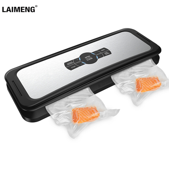 LAIMENG Automatic Vacuum Sealer Food Sealing Machine Vacuum Packaging Food Grade Plastic Vacuum Bags Kitchen Appliance S230