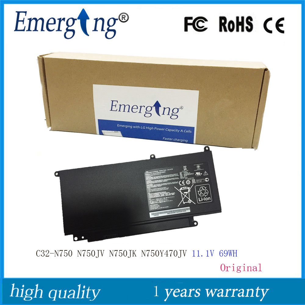 11.1V 69WH New Original Laptop Battery C32-N750 For ASUS N750 N750Y N750JK N750JV Series
