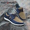 Merkmak Otoño Hombres Zapatos Zapatos de Lona de Tendencia Masculina Casual Ahoes hombres Bajo la Junta Pisos Transpirable Zapatos de Conducción de Gran Tamaño Outwear 46