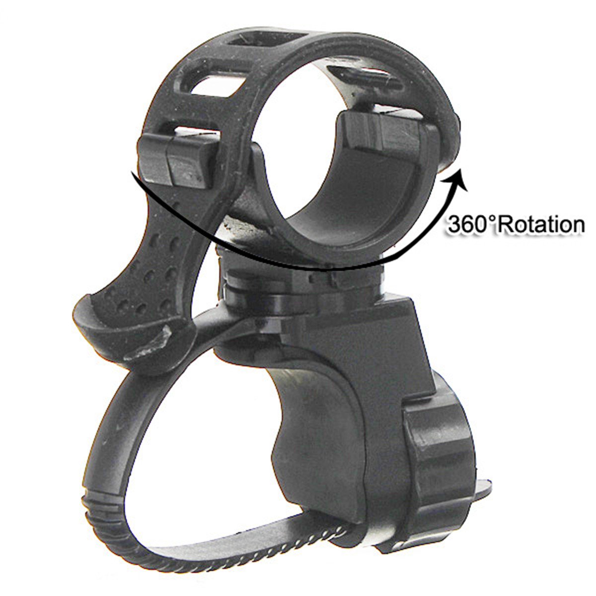 360 Rotation Cycling Bike Flashlight Bracket Mount Holder Lamp Light Clamp Clip