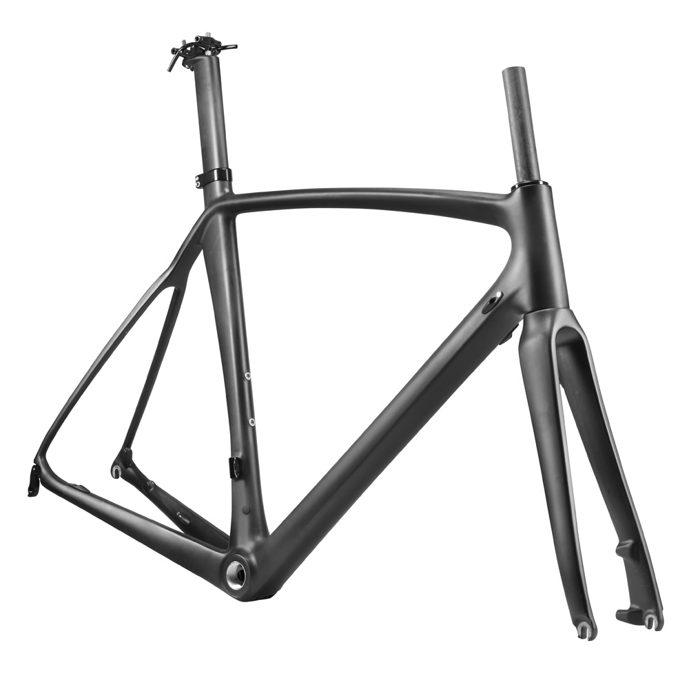OG-EVKIN Carbon Bicycle Frame 2018 Bike Carbon Road Frame Disc Brake Racing Frameset Fork Seatpost UD Matt DI2 Mechanical 56cm 2018 t800 full carbon road frame ud bb86 road frameset glossy di2 mechanical carbon frame fork seatpost xs s m l og evkin