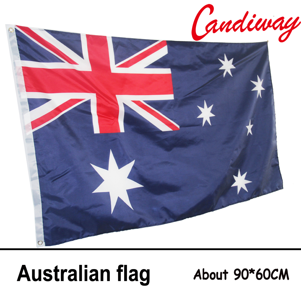 10pcs lot national flag country flag stick flags flag of the united - 90 X 60cm Australia Aussie National Flag Hanging Flag Polyester Australia Flag Outdoor Indoor Big