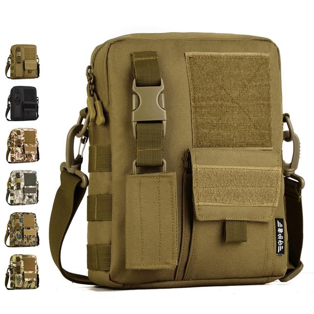 Men Camo Waterproof Vertical Messenger Bag Army Fans Tactical Shoulder Outdoor Travel Commuter Package Extend