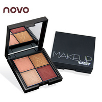 NOVO Infinite Charm 4 Color Matte Glitter Eyeshadow Palette Professional Shimmer Cosmetics Makeup Smoky Shining Eye