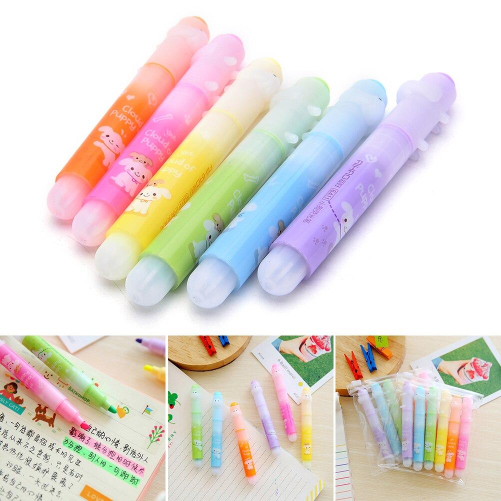Maker Office Fluorescent Marker Highlighter Pen Stationary School Pens