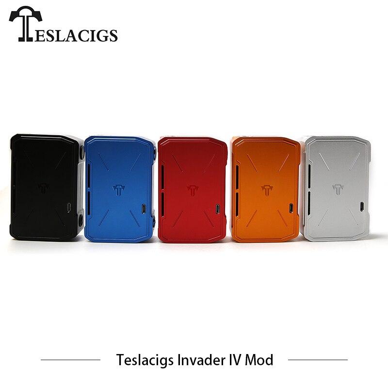 Cigarettes électroniques originales Mods Tesla Invader IV Mod Teslacigs 4 vaporisateur Mod 280 w double batterie boîte Mod E Cigarettes Vape