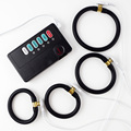 Male Electrostimulation Masturbation E-Stim Set Monopolar Cock Rings Conductive Rubber Tubing Sex Toys for Men