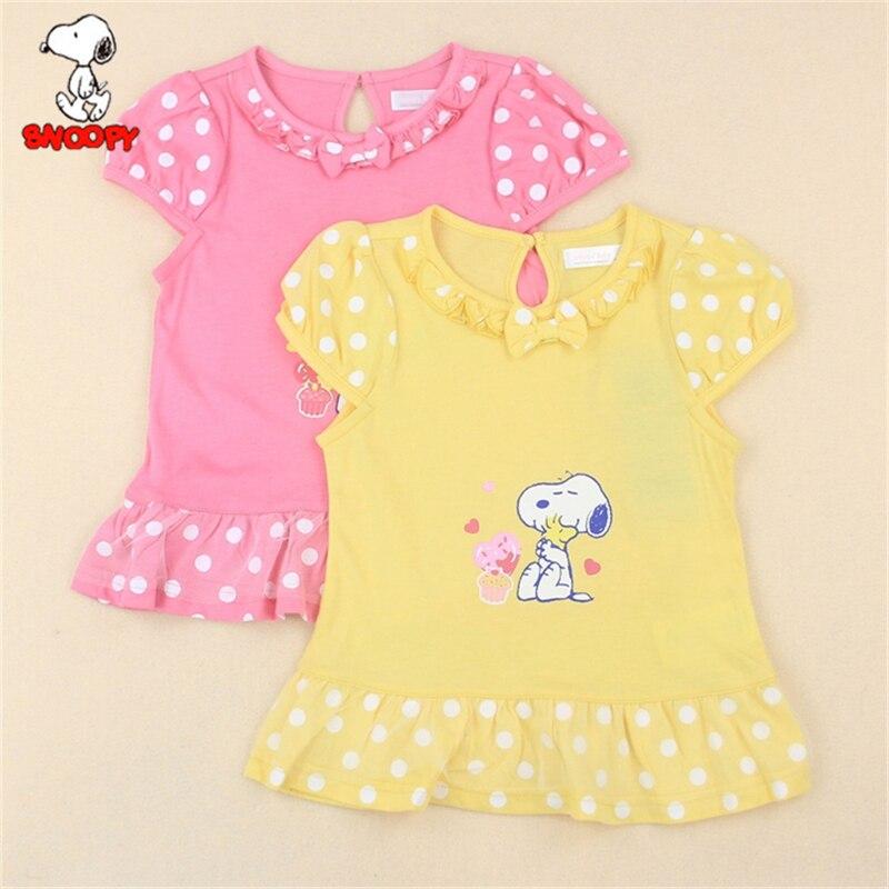 267fde68d1d344 Snoopy 2018 Baby Girls Cartoon T Shirt Girl Cute Snoopy Girl T-Shirt Kids  100% ...