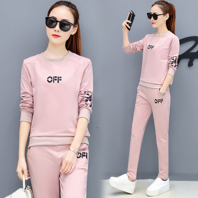 d302a60307 Tracksuit for women 2 piece set outfits co-ord set sportswear winter pink  top pants