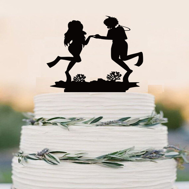 Scuba Diving Cake Topper Event Bride And Groom Wedding