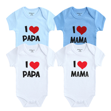 Kiddiezoom Baby Romper I Love Papa Mama Printed Baby Girls Boy Unisex Clothes Set