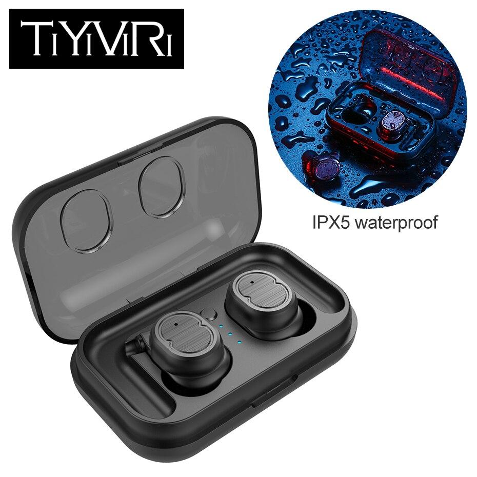 Auricular inalámbrico Bluetooth 5,0 auriculares de Control táctil cierto auricular impermeable Mini auriculares con caja de carga para teléfono inteligente