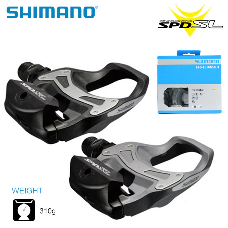 SHIMANO PD-R550 SPD-SL Carbon Resin Composite Road <font><b>Pedals</b></font> w/ cleats Bicycle Self-Locking <font><b>Bike</b></font> <font><b>Pedals</b></font> Parts Free Shipping
