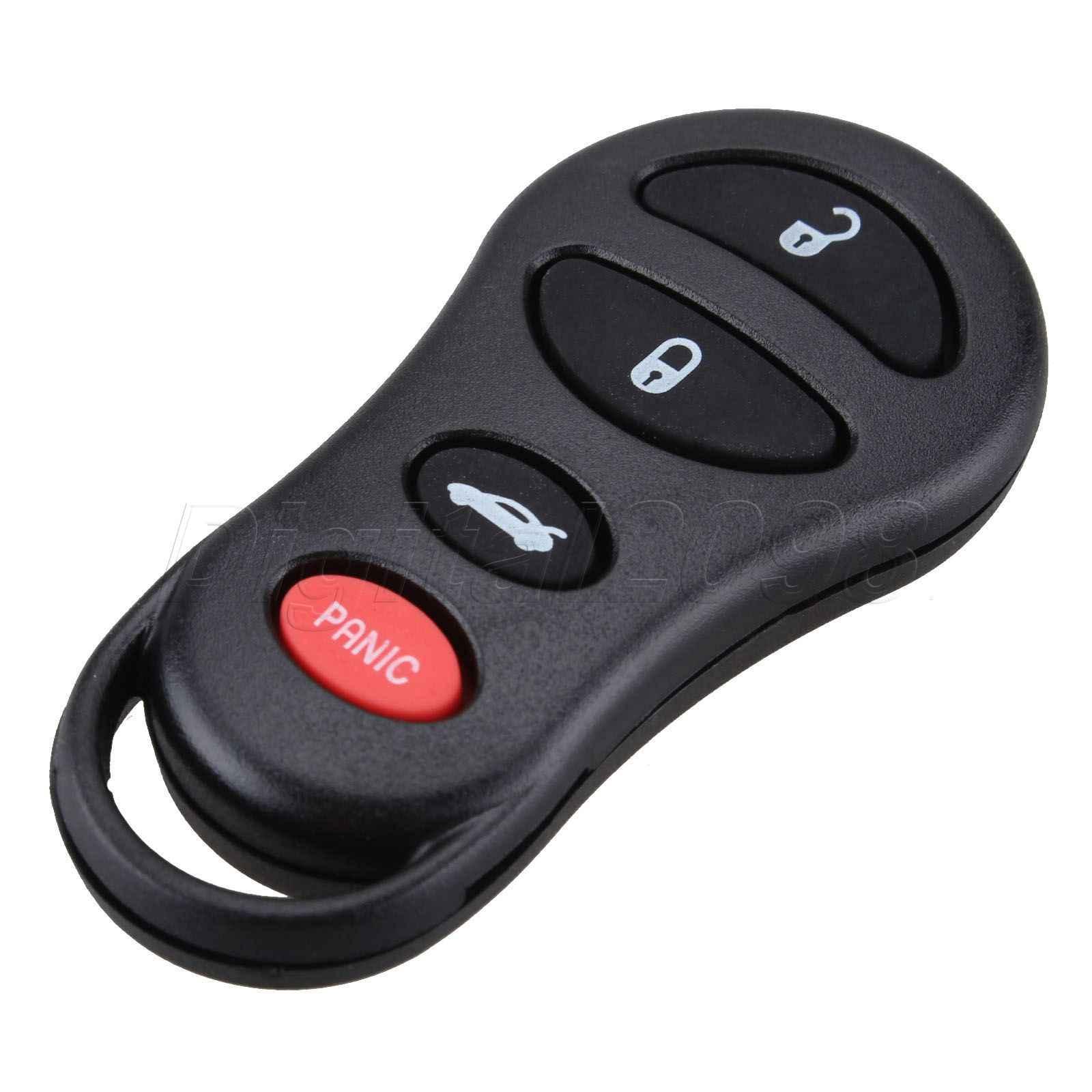 4 кнопки дистанционного ключа автомобиля оболочки чехол Fob ЗАМЕНА для Chrysler Sebring 300 м Concorde Jeep Liberty Dodge Neon Intrepid Stratus