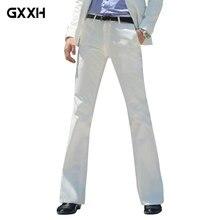 Новинка, мужские расклешенные брюки, строгие брюки, брюки-клеш, белые брюки для танцев, костюм, брюки, размер 28-30, 31, 32, 33, 34, 36, 37