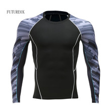 Compression Shirts MMA Rashguard Fitness Long Sleeves T-Shirt Men Base Layer Skin Tight Weight Lifting Elastic tee shirt S-4XL