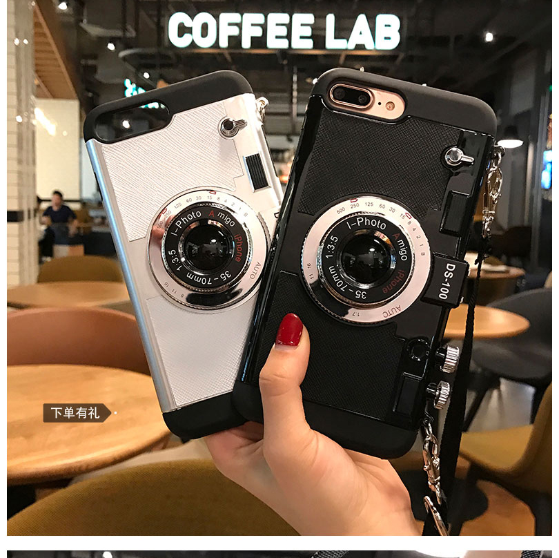 3D funny Retro Camera Phone Cases For iphone 7 6 6S Plus 5 5s 8 plus cover for iphone 10 X back coqeu With Lanyard3D funny Retro Camera Phone Cases For iphone 7 6 6S Plus 5 5s 8 plus cover for iphone 10 X back coqeu With Lanyard