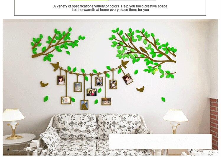 3D tree photo frames acrylic wall stickers creative photo tree living room  sofa bedroom bedside TV wall decoration stickers