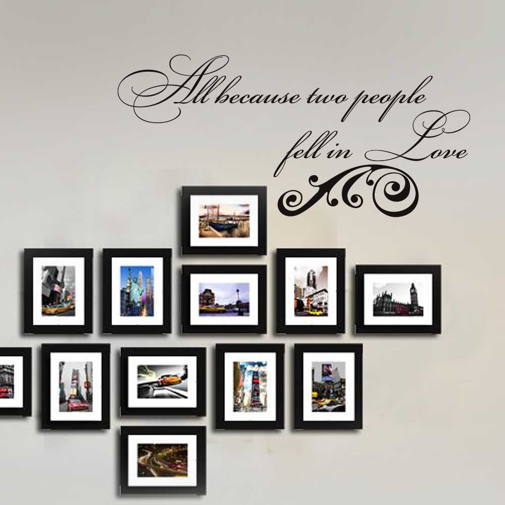 All Because Two People Fell in Love Romantic Wall Decal Wall Art ...
