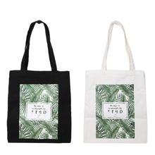 Thinkthendo Дамская парусиновая сумка ручной работы из хлопка Школы Путешествия Для женщин складной плеча Хозяйственные сумки Для женщин