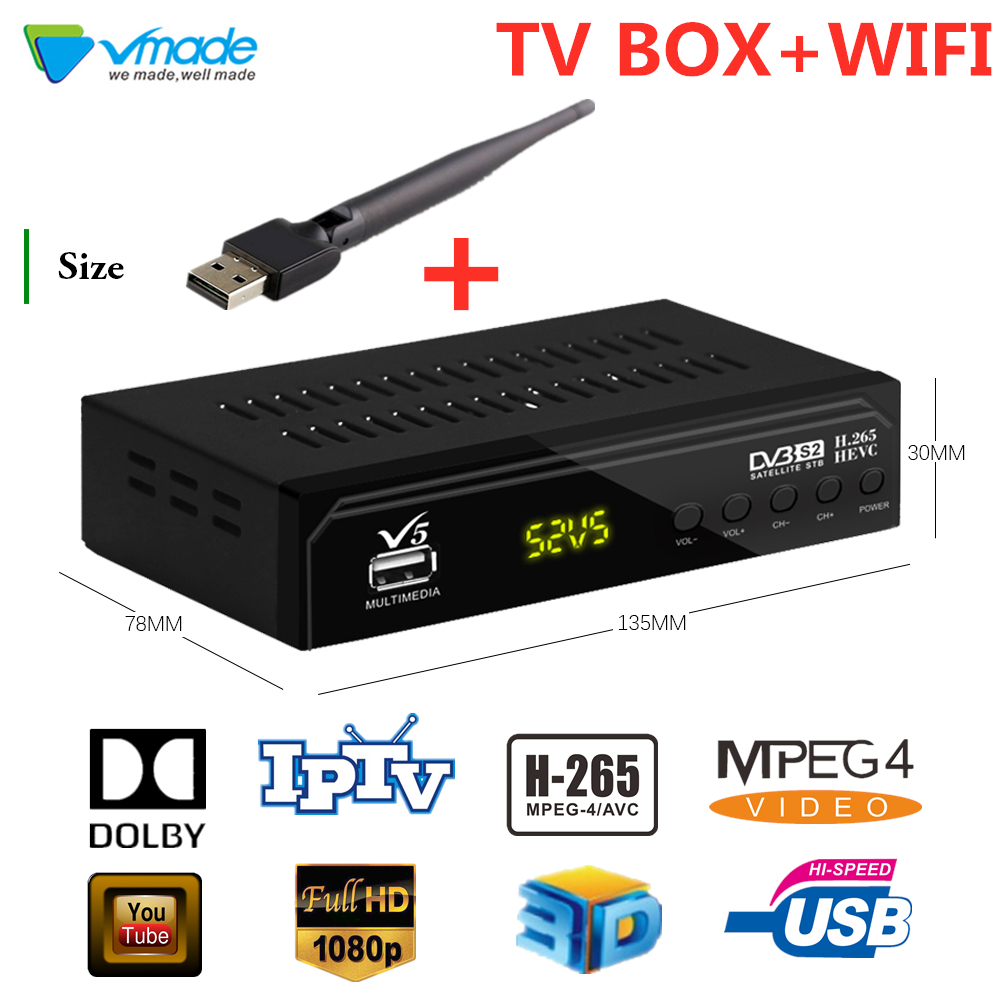 Special For Spain Hd 1080p Dvb-s2 H.265/hevc Digital Satellite Receiver Support Youtube Dolby Cccam Iptv Set Top Boxes+USB WIFI