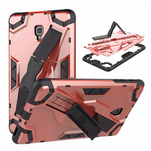 цены на SM T380 T385 Back hard Armor Cover Case Tab A 8.0 inch Tablet Case PU+PC Heavy Duty Case For Samsung Galaxy Tab A 8
