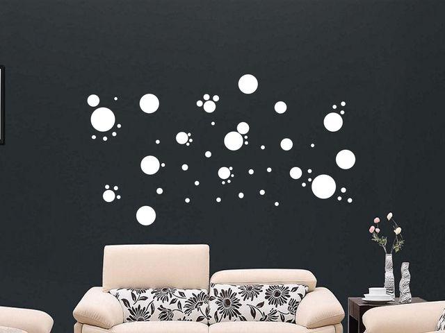 26 polka dots spot bubble wall stickers kid decal art nursery